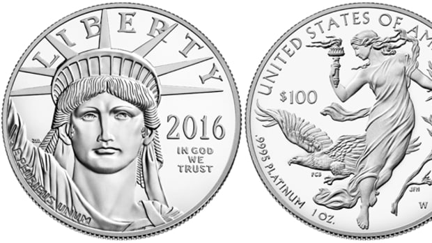 The 2016-W $100 platinum proof Eagle.