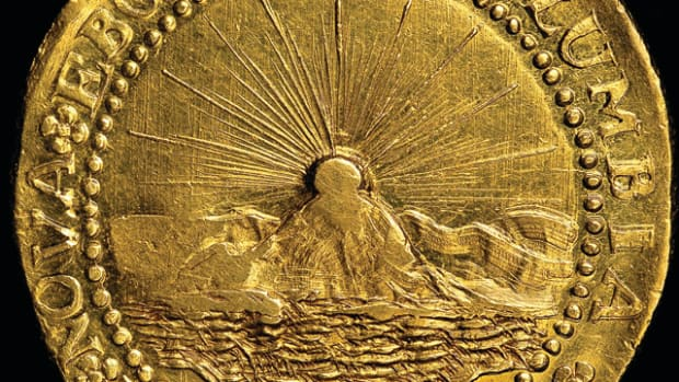 The 1787 Brasher doubloon took top place in 2014 auction results,
