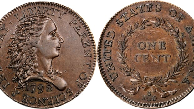 Star of the Stack's Bowers auction was the 1792 Birch cent that sold for $1,175,000.