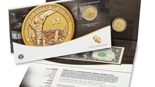 The 2015 American $1 Coin and Currency set is the second set released by the MInt.