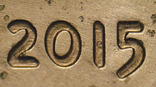 Doubling on the new 2015 doubled-die cent is strongest on the date, in LIBERTY and the UST of Trust. However, it is still difficult to make out unlike the classic 1955 and 1972 doubled dies.