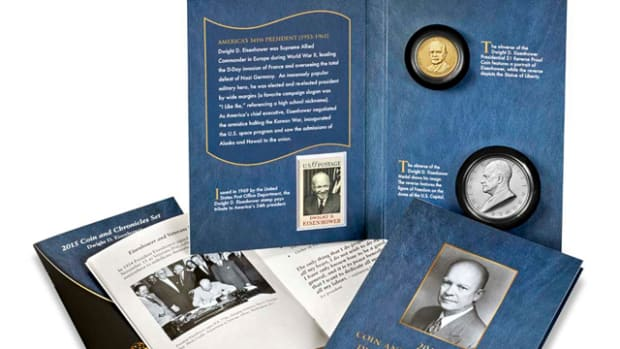 The Eisenhower Coin and Chronicles set went on sale Aug. 11 and sold out in 15 minutes.