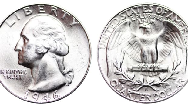 1946-S Washington quarter. (Images courtesy usacoinbook.com.)