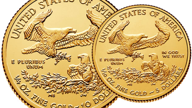 Both the 2015 quarter- and tenth-ounce gold Eagle bullion coins are sold out at the Mint.