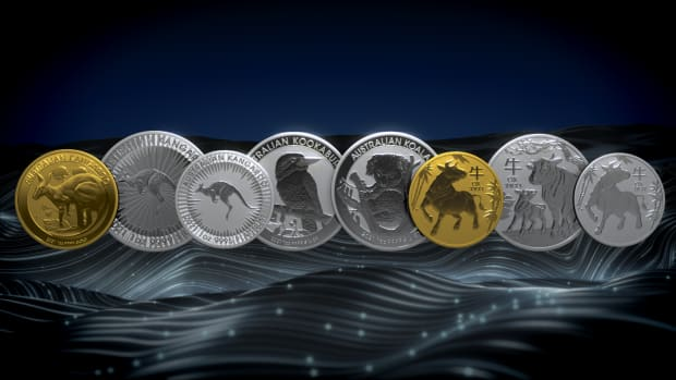 The 2021 Coins in Perth Mint's 2021 Bullion coins program includes: kangaroo, kookaburra, koala, and an ox. (Image courtesy Perth Mint)