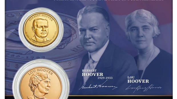The 2014 Hoover Presidential dollar and First Spouse medal set, currently priced around $160, could become a prime example of the dangers of artificial rarity.