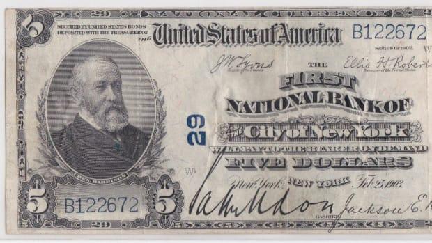NY-New York-29-02PB-$5-B122672 Grant