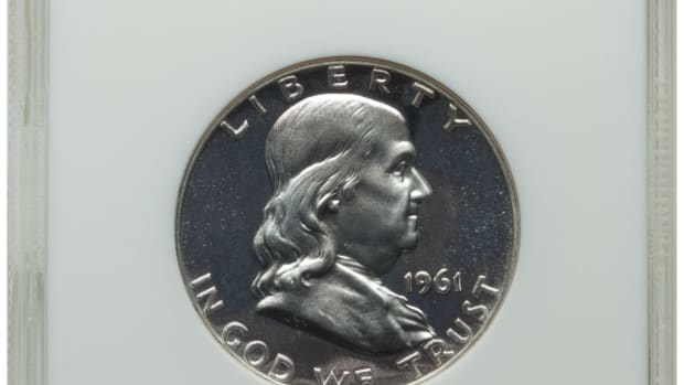 A encapsulated Franklin half dollar