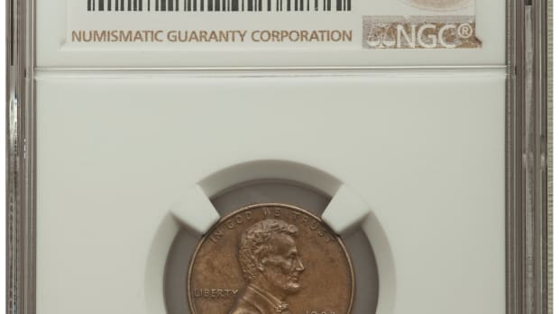 This 1982-D Small Date 1C Bronze in AU58 BN NGC is a very rare transitional alloy error, cousins to the famous 1943 bronze cents.