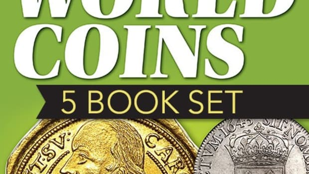 The five volumes listing the latest foreign coin values - the pinnacle of every coin reference library - are now offered as a special package.