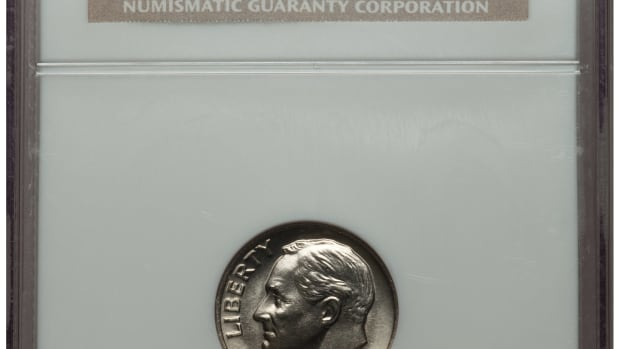 Shown here is an example of a 1982 No P dime. Image courtesy of Heritage Auctions