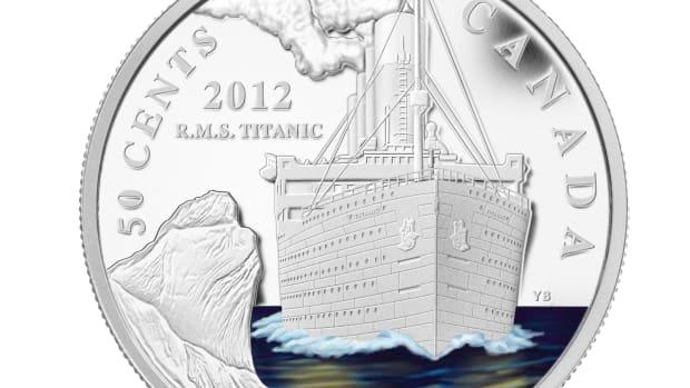 Canada Titanic 50c waves