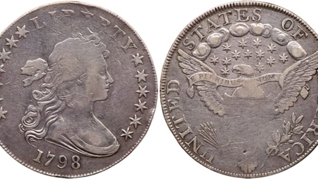 A new variety of the 1798 silver dollar with Heraldic Eagle reverse has been discovered and consigned to a Goldberg sale.