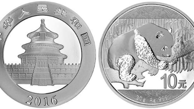 The 2016 Chinese silver Panda bullion coin will contain 30 grams of silver as opposed to its previous try ounce, or 31.1 grams, standard.