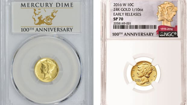 I had a member of my local coin club ask me recently at a meeting if he should send in his 2016-W gold Mercury dime for grading.