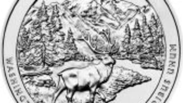 Olympic national park silver bullion coin
