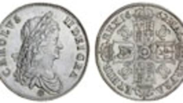 Top-selling, proof-like Charles II crown of 1662  (S-3350; KM-417.1).  In EF it realized $50,400 in the Spink sale of the Dr. Erik Miller collection. Images courtesy and © Spink.