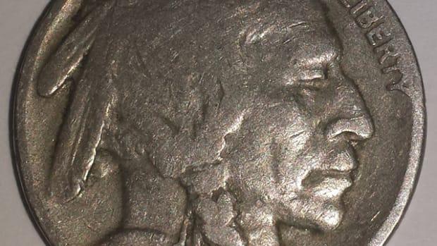 The found 1934 Buffalo nickel.