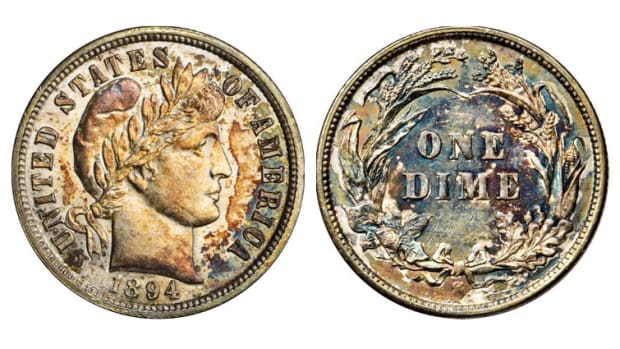 This recently discovered, fourth known 1854-S Half Eagle will have its first public exhibition at the ANA 2019 Chicago World's Fair of Money, August 13-17, courtesy of Brian Hendelson and Classic Coin Company. (Photo credit: Professional Coin Grading Service)