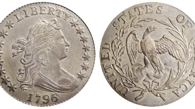 The 1796 dime. Images courtesy of Heritage Auctions