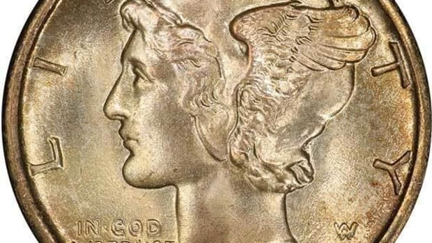 Mercury Dime realized $270,250