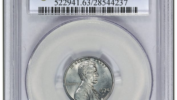 PCGS authenticated and graded the 1974-D cent two years ago.