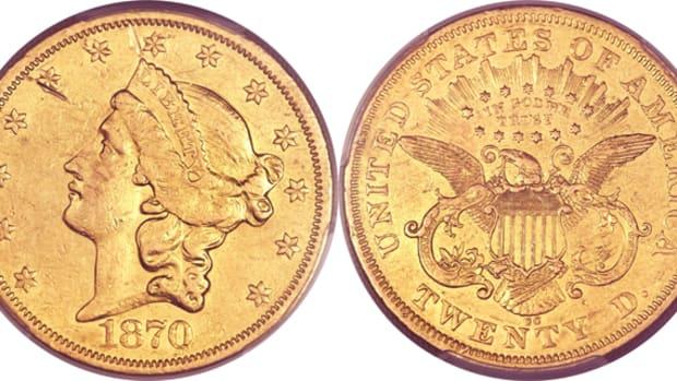 1870-CC gold $20