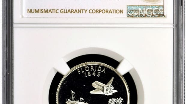 The top 10 contestants in NGC's grading contest at the FUN show will receive a silver proof Florida state quarter. (Image courtesy NGC.)