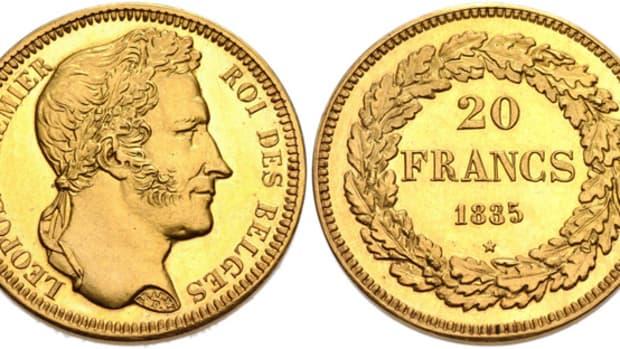 Belgium 1835 Gold 20 Francs – NGC PF-64,  Lot 970717