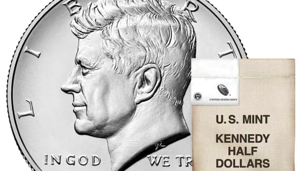 On June 4, the Mint is releasing 2020 Kennedy half dollar rolls and bags. (All images courtesy U.S. Mint.)