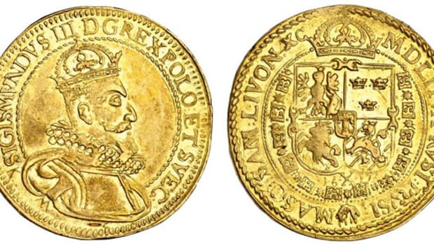 Star of the sale: the magnificent 1612 Polish 10 ducats of Sigismund III Vasa that sold for $108,720 in VF at Spink's December sale. Image courtesy and © Spink London.