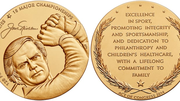 Nicklaus was given his medal at a special ceremony held in the Capitol Rotunda in Washington, D.C.
