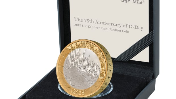The D-Day commemorative coins will be available in Gold and Silver Proof, Silver Proof Piedfort and Brilliant Uncirculated finishes.