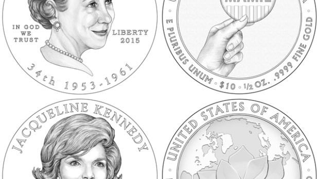 The designs for the 2015 First Spouse coins.