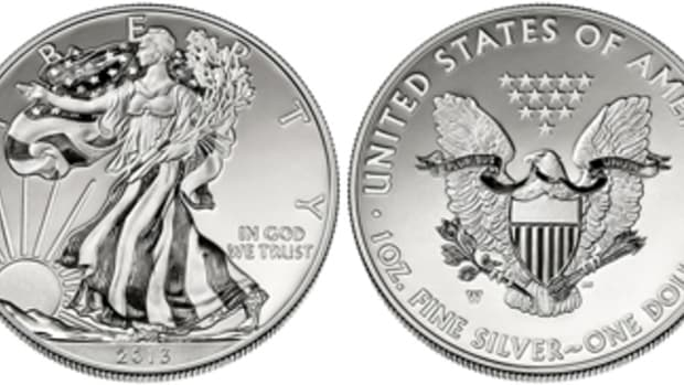 The 2013 Enhanced Uncirculated Silver American Eagle was nominated for the Best Silver Coin Category.