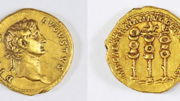 A Roman gold coin of Trajan found in Israel is only the second specimen of this type known.
