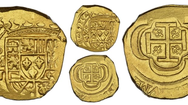 Lot 7, a 1715J cob 4 escudos, from the Pullin collection was also plated in Dr. Frank Sedwick's Practical Book of Cobs.
