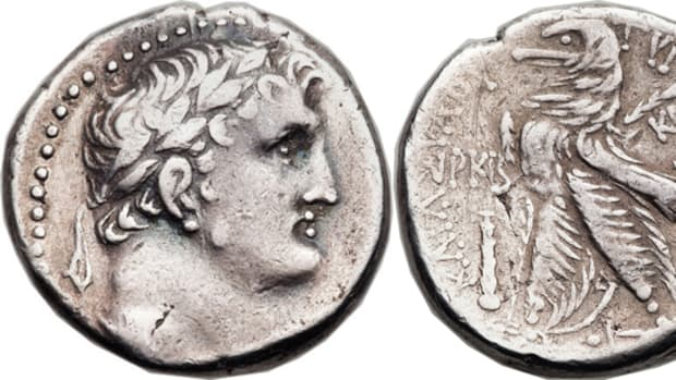 One of the 38 Shekels of Tyre featured in the sale.