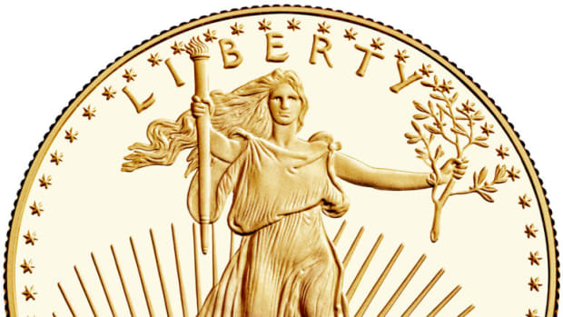 The 2019 bullion gold Eagle contains one gold troy ounce and bears a $50 face value. (Image courtesy of the United States Mint)