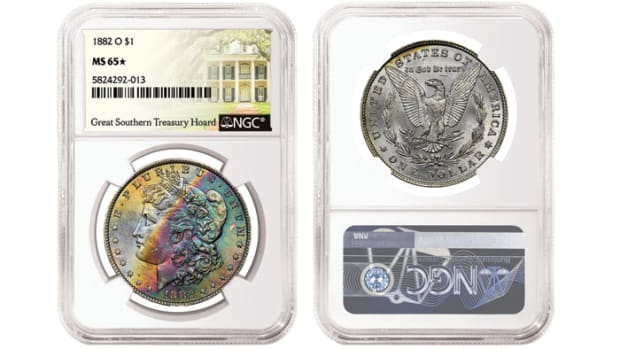 1882-O $1 graded NGC MS 65★ from the Great Southern Treasury Hoard