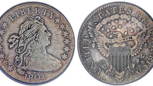 1804 dime with 13 stars on reverse. (Images courtesy Heritage Auctions)