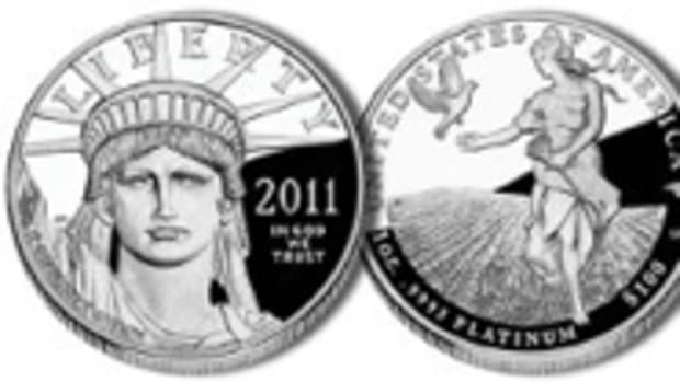2011 American Eagle 1 ounce platinum proof coin