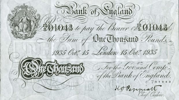 This Bank of England £1,000 will soon be on the auction block.