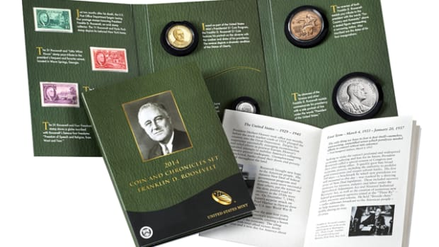 Will the inclusion of a reverse proof Presidential dollar boost sales of the 2015 Coin and Chronicles Set? The Roosevelt set shown here features just a standard proof Presidential dollar.