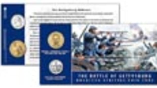 Gettysburg Quarter Dollar and Dollar Coin Card
