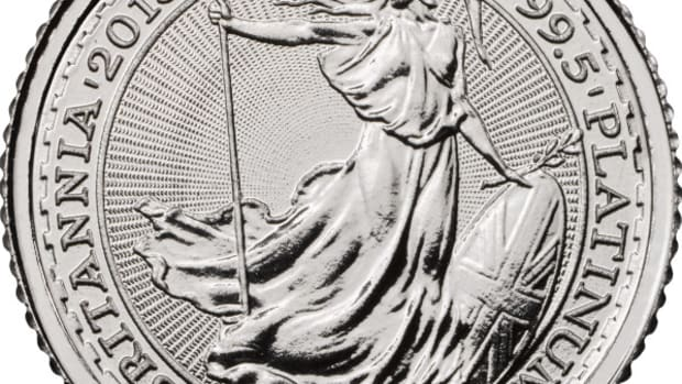 Great Britain has sold about 35,000 ounces of its recent platinum composition coins into the U.S. market.