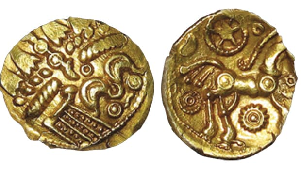 Tring Wheel gold quarter stater, 14mm, 1.3g, ABC 2228, will be sold Nov. 10.