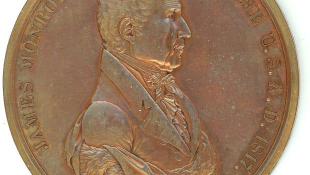 James Monroe Peace medal obv