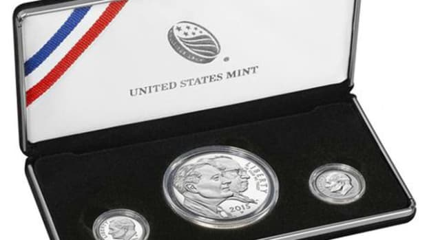 The March of Dimes three-coin set goes on sale May 4. It has a mintage of 75,000 sets.