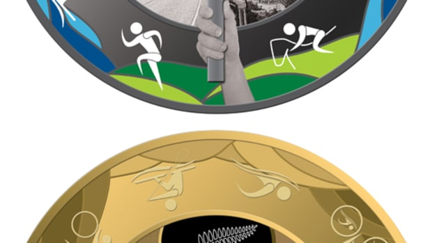 Silver $1 and gold $10 coins from New Zealand celebrate the Rio 2016 Olympic Games. (Images courtesy New Zealand Post.)